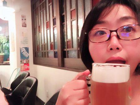 幹事で一番乗りのためフライング乾杯(いつも)